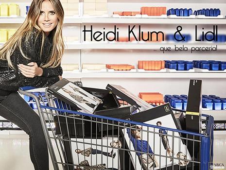 Heidi Klum, Esmata e Lidl numa parceria interessante