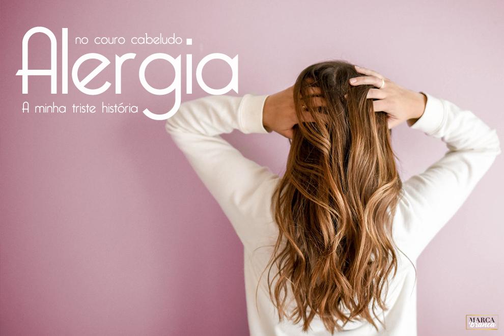 alergia no couro cabeludo